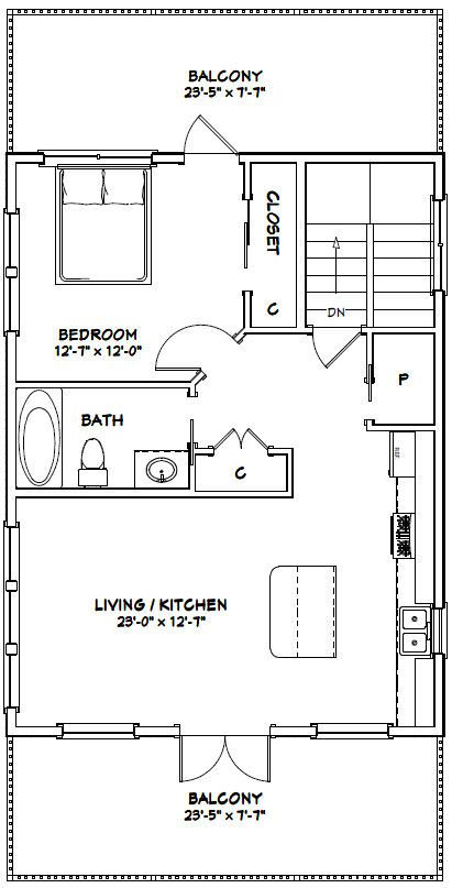 24x30 House 24x30h7b 830 Sq Ft Excellent Floor Plans Floor Plans Garage Apartment Floor Plans Garage Apartment Plans