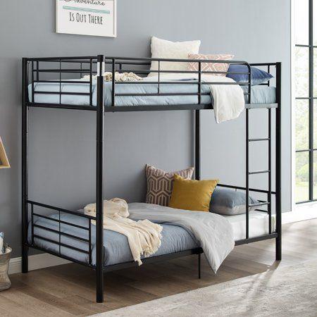 Premium Twin Over Black Metal Bunk Bed By Manor Park Walmart Com In 2021 Beds