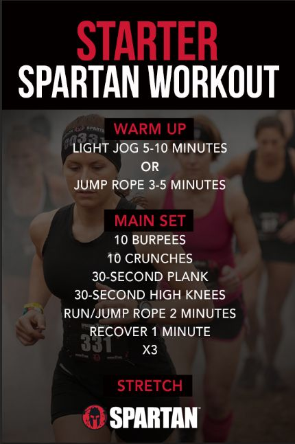 A great 20-30 minute workout. If you're a new Spartan or thinking about doing a Spartan Race, this is the workout to start your journey to the finish line.