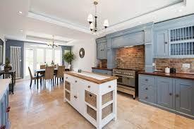 Image Result For Blue Cabinets Brick Backsplash Brick Wall
