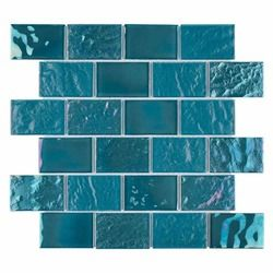 Iridescent Glass Tile Summer Turquoise 1 X 3 Iridescent Glass Tiles Glass Tile Recycled Glass Tile