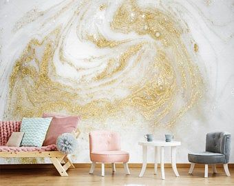 Nice To Meet You In My Store By Vinylicstickersshop On Etsy Gold Marble Wallpaper Vinyl Wallpaper Wall Wallpaper