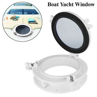 "8"" Boat Yacht Round Porthole Opening Window Port Hole Portlight Hatch Marine"