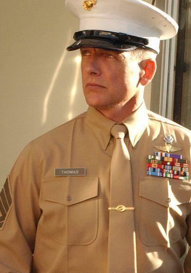 "Mark Harmon as Leroy Jethro Gibbs undercover in the NCIS episode ""One Shot, One Kill"""