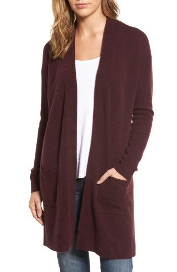 Free shipping and returns on Halogen® Rib Knit Wool & Cashmere Cardigan (Regular & Petite) at Nordstrom.com. A longline cardigan that layers beautifully over your favorite cool-weather looks is knit with a soft ribbed texture from a luxe blend of wool and cashmere.