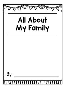 All About My Family Writing Book Template for K-2 {FREE!} | Families