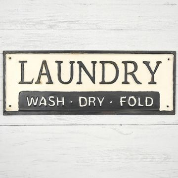 Wash Dry Fold Metal Laundry Sign Laundry Signs Pantry Sign Bath Sign