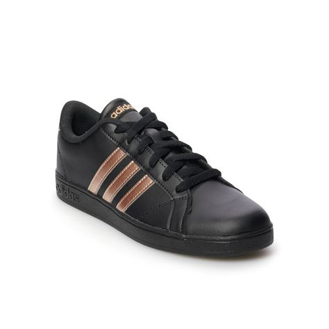 free shipping 9d0c0 9542f Adidas NEO Baseline Kids Shoes, Size 1, Black