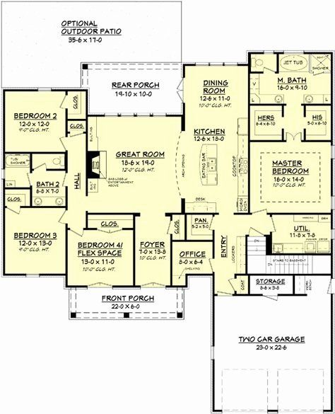 House Plans Without Dining Room Elegant 103 Best Home Plan No Formal Dining Remote Master In 2020 Kitchen Floor Plans House Plans One Story New House Plans