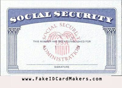 Usa Social Security Card Template Psd Ssn Psd Generator Social Security Card Card Template Printing Software