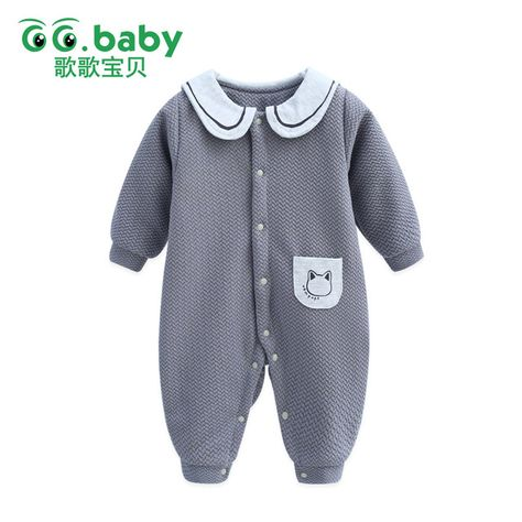 67631bf66 Infant Winter Baby Boys Clothes Overalls Romper For Baby Babies ...