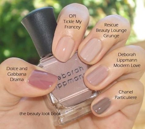 Neutral Nail Polishes - like the OPI one best for pale skin
