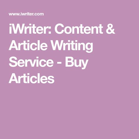 Content & Article Writing Service
