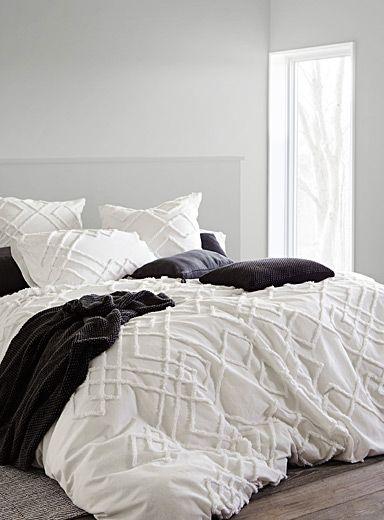 Chenille Embroidery Duvet Cover Set Duvet Cover Master Bedroom Bed Linens Luxury Farmhouse Bedding