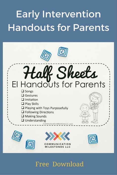 blog Speech therapy at home providing early language development handouts — Speech and Language at Home