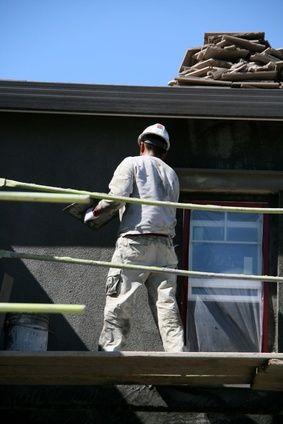 How To Mount Screws To Stucco Hunker Stucco Stucco Repair Stucco Exterior