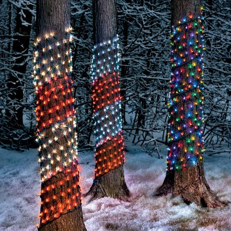 Led Ribbon Net Lights Outdoor Christmas Decorations Outdoor Christmas Christmas Help