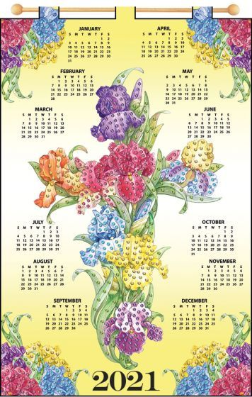 Iris Cross 2021 Felt Calendar in 2020 | Calendar kit, Calendar