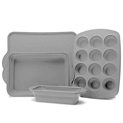 As Is Cook S Companion 4 Piece Collapsible Silicone Bakeware Set