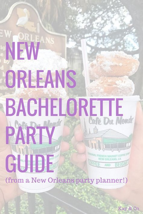 our 48 hour New Orleans bachelorette party itinerary! — Kay & Co: Charleston bachelorette parties & girls' weekends - planning a New Orleans bachelorette party? looking for help with your New Orleans bachelorette part - New Orleans Bachelorette, Bachelorette Party Planning, Bachlorette Party, Bachelorette Weekend, Bachelorette Itinerary, Weekend In New Orleans, New Orleans Party, Newlywed Game Questions, Bridal Shower Questions