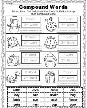 Compound Words Worksheets Compound Words Worksheets Compound Words Compound Words Activities Kindergarten compound words worksheets