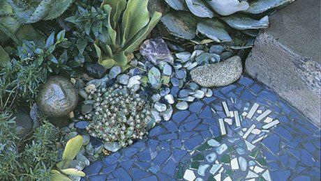 Create a Pebble Mosaic | Gardens | Stone garden paths