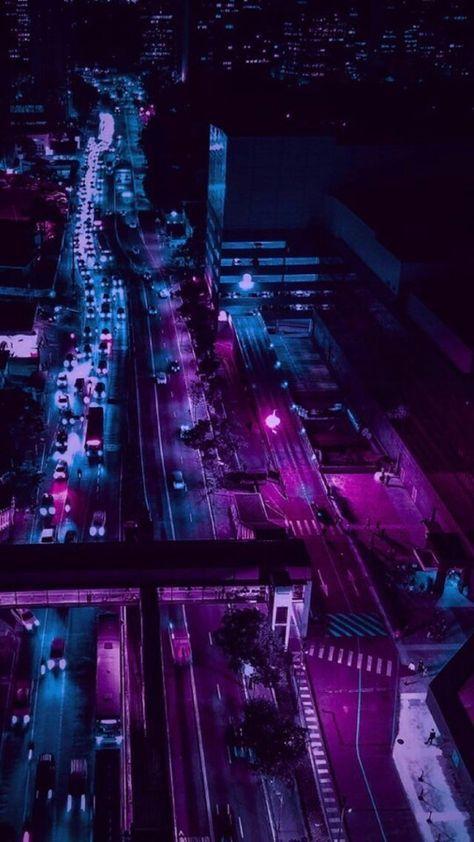 Phone Wallpaper Dark Purple Wallpapers 52 Ideas For 2019 In 2020 Night Aesthetic City Wallpaper Aesthetic Wallpapers