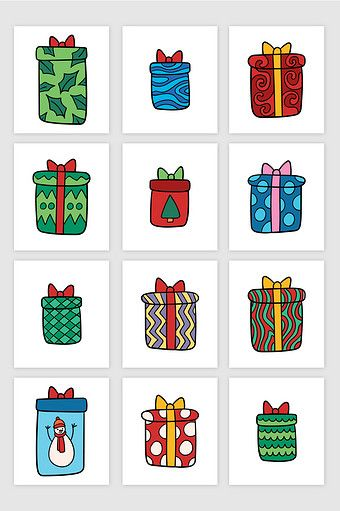 12 Vector Hand Drawn Cartoon Christmas Gift Boxes Png Images Ai Free Download Pikbest Christmas Gift Box How To Draw Hands Christmas Gifts