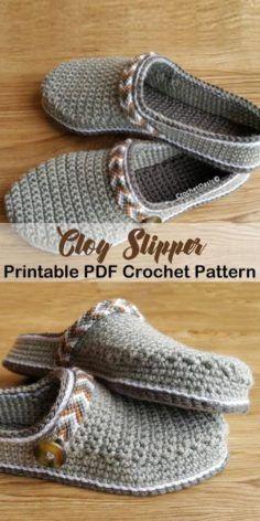 Make these clog slippers -slipper crochet patterns – crochet pattern pdf – hat crochet pattern – amorecraftylife.com #crochet #crochetpattern