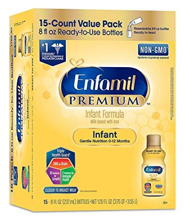 Enfamil Infant Formula Milk Based With Iron 8 Ounce 15 Count