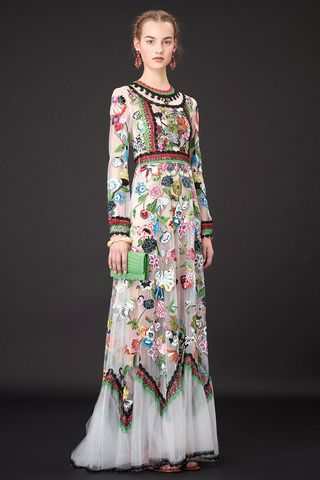 Evening Gowns: Unique Unusual boho Not vintage but stunning retro look embroidered gown dress long evening Valentino Resort