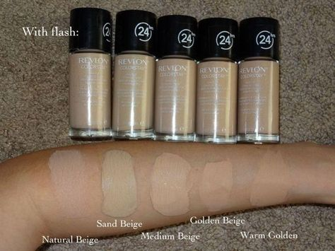Revlon color stay foundation color char i m warm golden in the