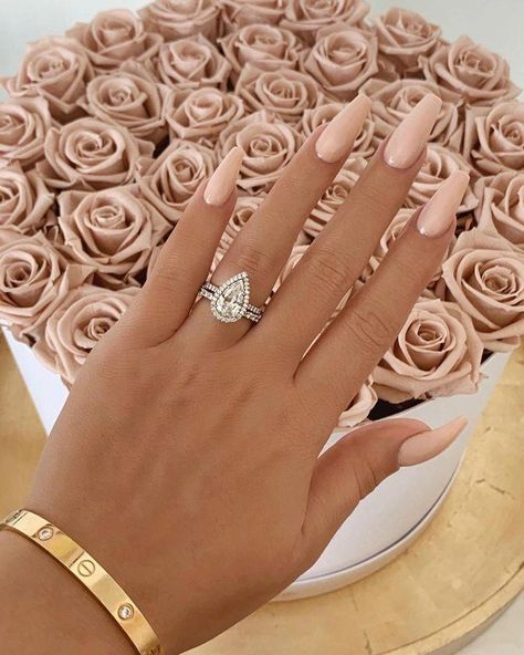 The pear cut diamond is unique in all of its own ways������������ Who would love this ring? Visit our website and instagram for more info! Message us anytime. #fashion #diamond #rings #jewelry #love #wedding #engagement #luxury #beauty #coffinnails #mossianiteengagementrings