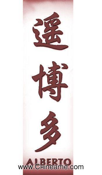 El Nombre De Alberto En Chino Chineame Com Disenos De Tatuajes De Relojes Significado De Letras Chinas Tatuajes De Nombres