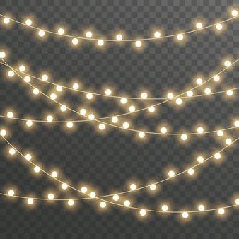 Luces De Navidad Aislado Vector Premium Luces De Navidad Fondo De Pantalla Navideno Guirnalda De Luces