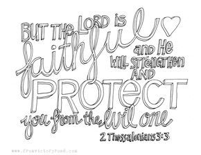 Today S Free Coloring Page Is From 2 Thessalonians 3 3 Feel Free