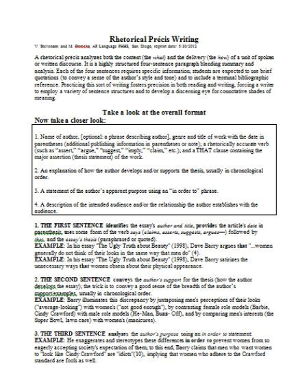 Rhetorical Preci Template 20 Available For Free Download In Pdf And Word Document Sumo Rhetoric Words Difference Between Paraphrase