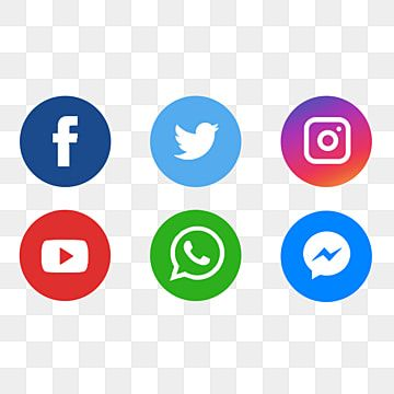 Social Media Icons Social Media Social Media Logo Social Media Icon Set Png Transparent Clipart Image And Psd File For Free Download In 2020 Social Media Icons Social Media Logos Media Icon