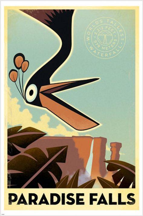 Paradise Falls World's Tallest Poster South America 24x36 Unique Rare