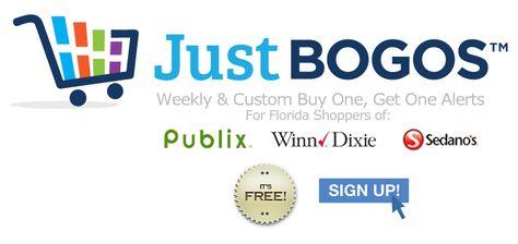 Justbogos Sends Weekly Custom Alerts For Your Favorite Bogo Buy One Get One Sales At Publix Winn Dixie Sedano S Free Publix Winn Dixie Get One