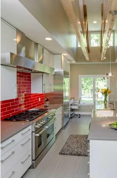 23 Red Tile Design Ideas For Your Kitchen Bath Modern Kitchen Design Kitchen Backsplash Designs Kitchen Design