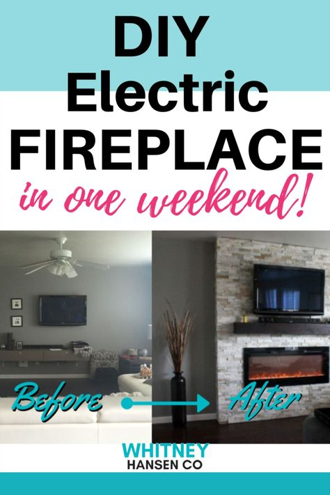 HOW to BUILD A DIY Electric Fireplace in ONE Weekend!