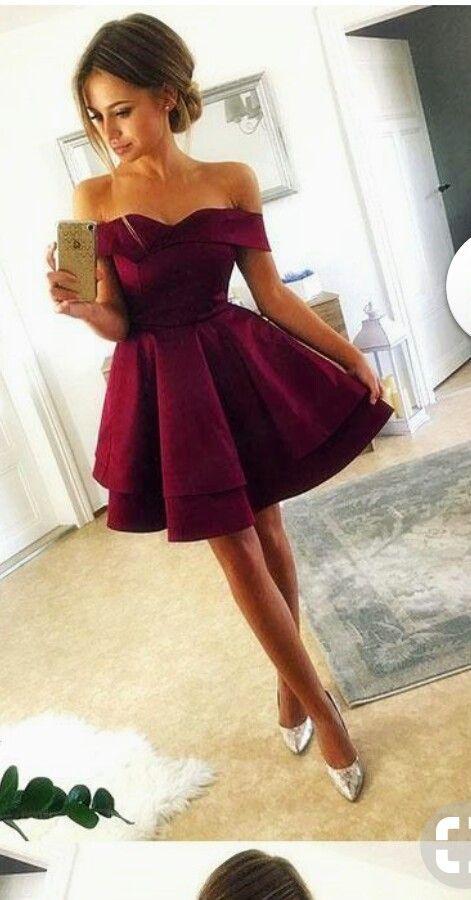 Vestido Color Vino Sin Mangas En 2019 Vestidos Color Vino