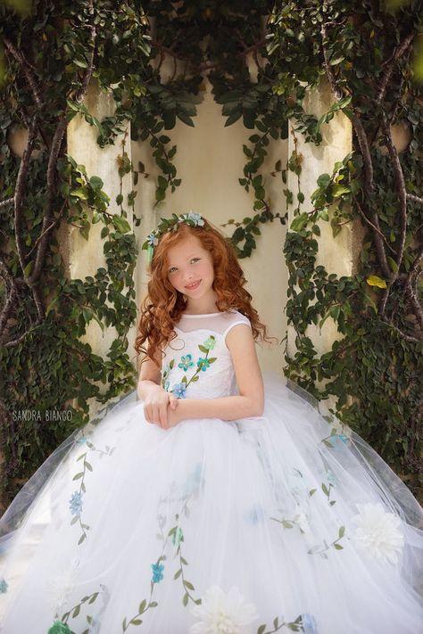 LIMITED EDITION 'Secret Garden' Couture Flower Girl by EllaDynae
