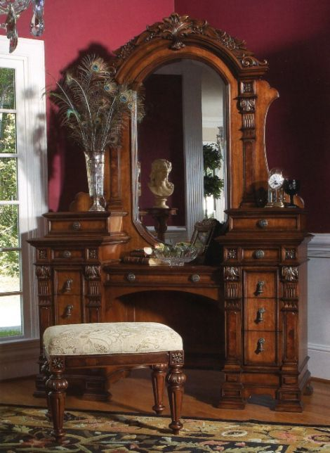 Antique Vanity Table With Mirror How To Paint Antique Vanity