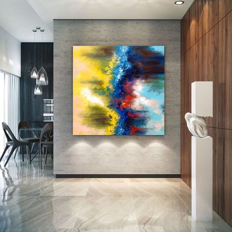 Extra Large Wall Art On Canvas Original Abstract Paintings Contemporary Art Mdoern Living Room Decor Office Oversize Artworks Lac641 Extra Large Wall Art Large Abstract Wall Art Abstract Wall Art