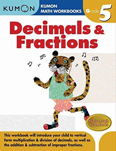Grade 5 Decimals Fractions Kumon Math Workbooks Kumon Publishing 9781933241593 Bookshopee Com In 2020 Math Workbook Kumon Math Kumon