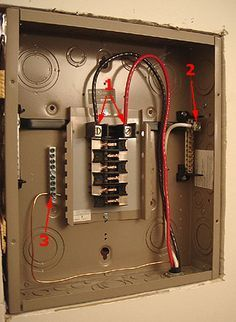 Sub Panel Incoming Wiring Connections Cutler Hammer 125 Amp Panel Electrical Wiring In 2019 Home Electrical Wiring Electric House Breaker Box