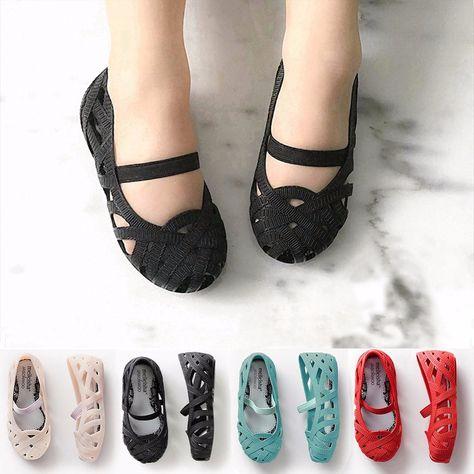 aa00d8fe0f1 Mini Melissa 2018 Girl Sandals Hollow Girls Sandals Jelly Shoes Children  Shoes Jelly Shoes Baby Girl