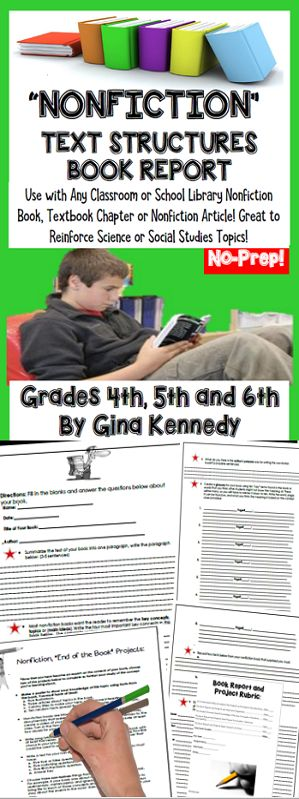 Nonfiction Book Projects, \ - science project report